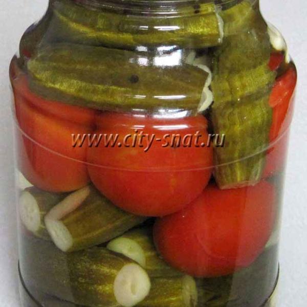 Рецепты маринованные огурцы с помидорами